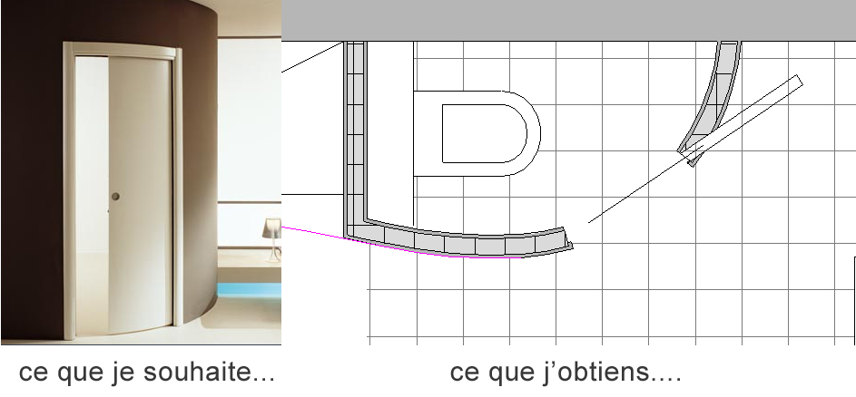 Abvent 3d architecture design Porte coulissante courbe