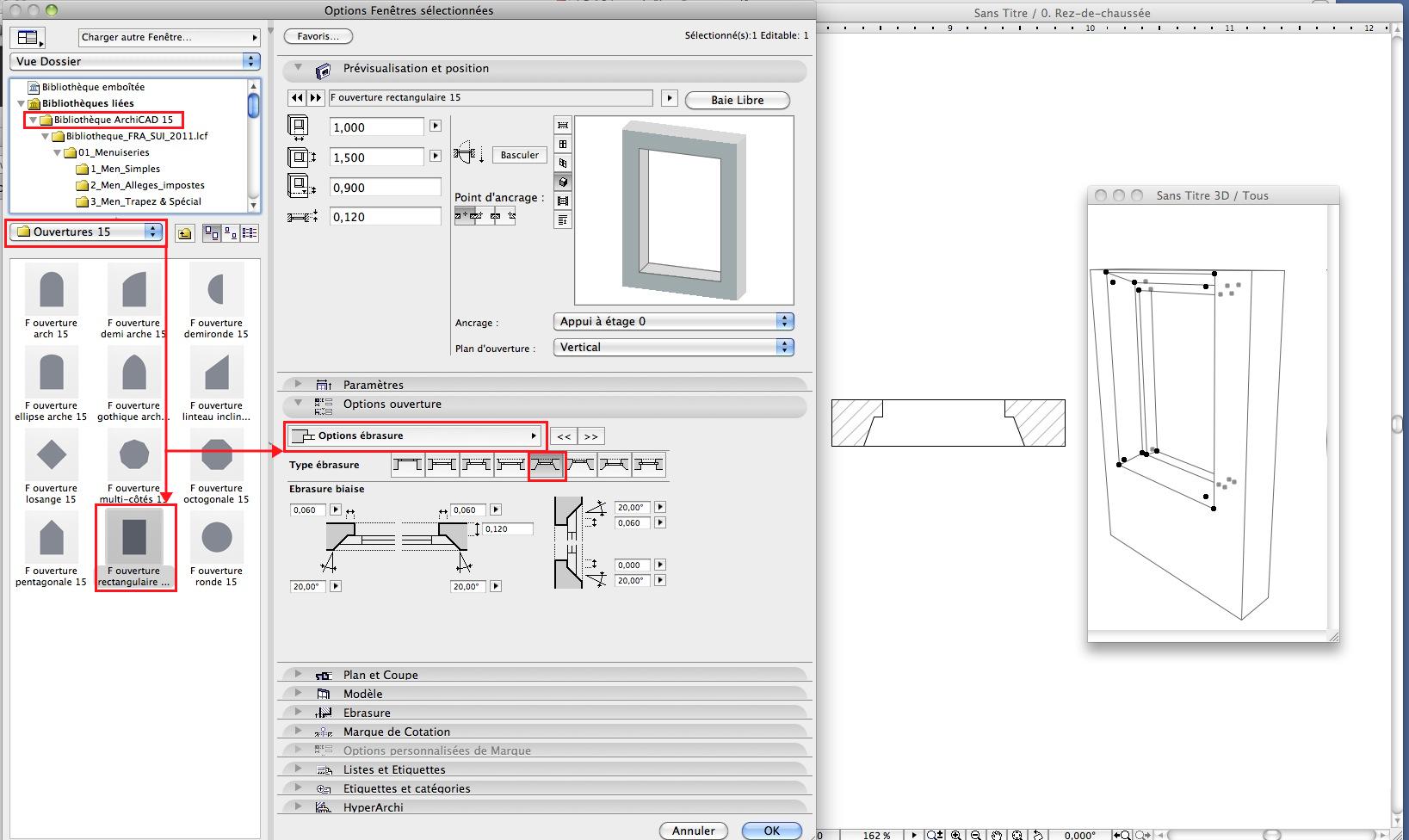 Abvent 3d architecture design for Embrasure de fenetre